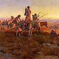 In The Wake Of The Buffalo Hunters by Charles Russell