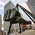 In Your Face -  Joe Louis Fist Statue - Detroit Michigan by Gordon Dean II