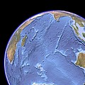 Indian Ocean, Sea Floor Topography by Science Photo Library