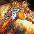 Indian War Horse Golden Sun by Marcia Baldwin