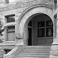 Indiana University Maxwell Hall Entrance by University Icons