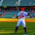 Indianapolis Indians Catcher by David Haskett