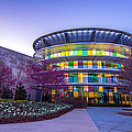 Indianapolis Museum Of Art Blue Hour Lights by David Haskett