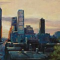 Indy City Scape by Donna Shortt