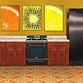 Interior Design Idea - Sweet Orange - Kiwi - Lemon by Anastasiya Malakhova