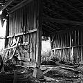 Interior Of Barn In Plainville Indiana by Julie Dant