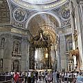 Interior Of St Peter's Dome. Vatican City. Rome. Lazio. Italy. Europe by Bernard Jaubert