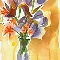 Irises With Stars Of Bethlehem by Kip DeVore