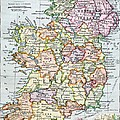Irish Free State And Northern Ireland From Bacon S Excelsior Atlas Of The World by English School