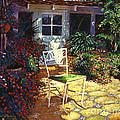 Iron Patio Chair by David Lloyd Glover