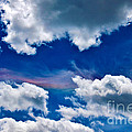 Irridescent Rainbows Among The Clouds Print by Janice Rae Pariza