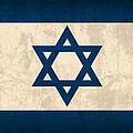 Israel Flag Vintage Distressed Finish by Design Turnpike