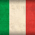 Italy Flag Vintage Distressed Finish by Design Turnpike