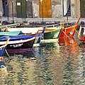 Italy Portofino Colorful Boats Of Portofino by Anonymous