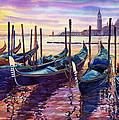 Italy Venice Early Mornings Print by Yuriy Shevchuk