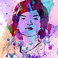 Jackie Kennedy Watercolor by Naxart Studio