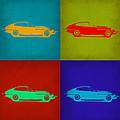 Jaguar E Type Pop Art 1 by Naxart Studio