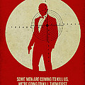 James Poster Red 3 by Naxart Studio