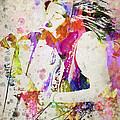 Janis Joplin Portrait Print by Aged Pixel