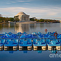 Jefferson Memorial And Paddle Boats by Jerry Fornarotto