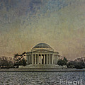 Jefferson Memorial At Dusk by Terry Rowe