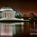 Jefferson Memorial at Night Print by Olivier Le Queinec