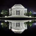 Jefferson Memorial - Night Reflection by Metro DC Photography