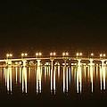 Jensen Causeway At Night by Lynda Dawson-Youngclaus