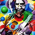 Jerry Garcia In Bubbles by Joshua Morton