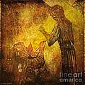 Jesus Meets His Mother Via Dolorosa 4  by Lianne Schneider