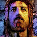 Jesus - Stained Glass Print by Ray Downing