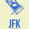 JFK Airport Poster 3 Print by Naxart Studio
