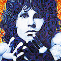 Jim Morrison Chuck Close Style by Joshua Morton