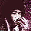 Jimi Hendrix Purple Haze Red by Tony Rubino