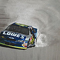 Jimmie Johnson-victory Burnout by Paul Kuras