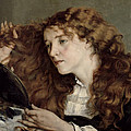 Jo the Beautiful Irish Girl Print by Gustave Courbet