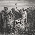 Job and his Friends Print by Gustave Dore
