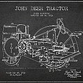 John Deer Tractor Patent Drawing From 1933 by Aged Pixel