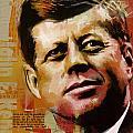 John F. Kennedy Print by Corporate Art Task Force