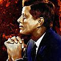 John F. Kennedy Print by Dancin Artworks