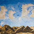 Joshua Tree National Park And Summer Clouds by Carolina Liechtenstein