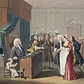Justice Triumphs, Illustration by William Hogarth