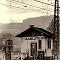 Karlstejn Railroad Shack Print by Joan Carroll