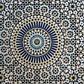 Kasbah Of Thamiel Glaoui Zellij Tilework Detail  by Moroccan School