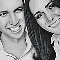 Kate and William Print by Samantha Howell