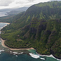 Kee Beach Along The Na Pali Coast - Kauai Hawaii by Brian Harig