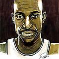 Kevin Garnett Portrait by Dave Olsen