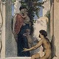 La Charite Romaine by William Bouguereau