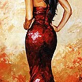 Lady In Red 035 by Emerico Imre Toth
