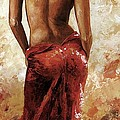 Lady In Red 27 Soft Color by Emerico Imre Toth